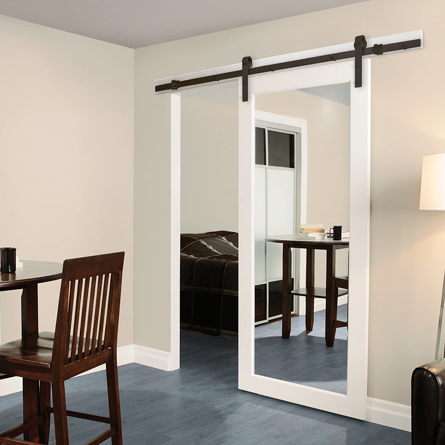 Sliding barn door hardware penn modern double door for Hardware for sliding barn doors flat track