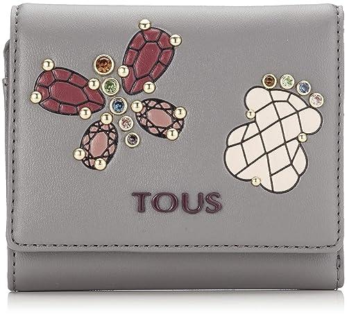 Tous Billetera pequeña Teatime Jewel, Cartera para Mujer, Multicolor (Gris/Vino)