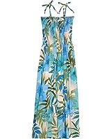 RJC Womens XS - XL Watercolor Tropics Elastic Tube Top Sundress