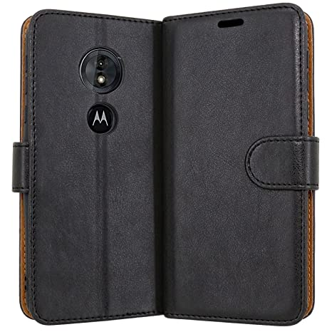official photos 785c5 7137d Case Collection Premium Leather Folio Cover for Motorola Moto G6 Play Case  Magnetic Closure Full Protection Design Wallet Flip with [Card Slots] and  ...