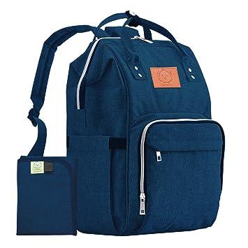 f738187284 KeaBabies Diaper Bag Backpack - Multi-Function Waterproof Travel Baby Bags  for Mom, Dad