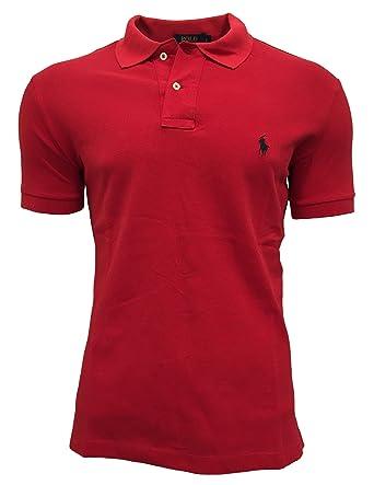 949e36f71c4b Ralph Lauren Herren Poloshirt Custom Fit von Ralph Lauren Size  XL   RED   Amazon.de  Bekleidung