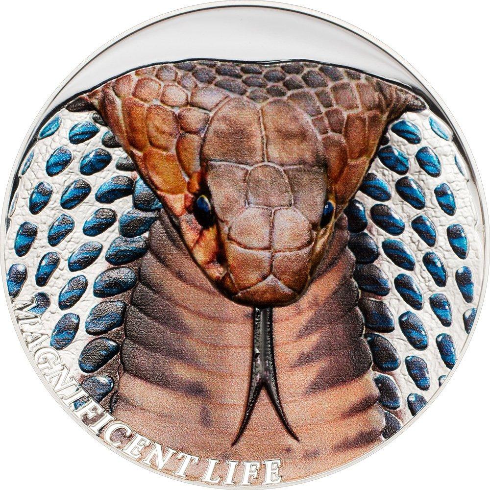 Power Coin Cobra Schlange Magnificent Life 1 Oz Silber Münze 5  Cook Islands 2017