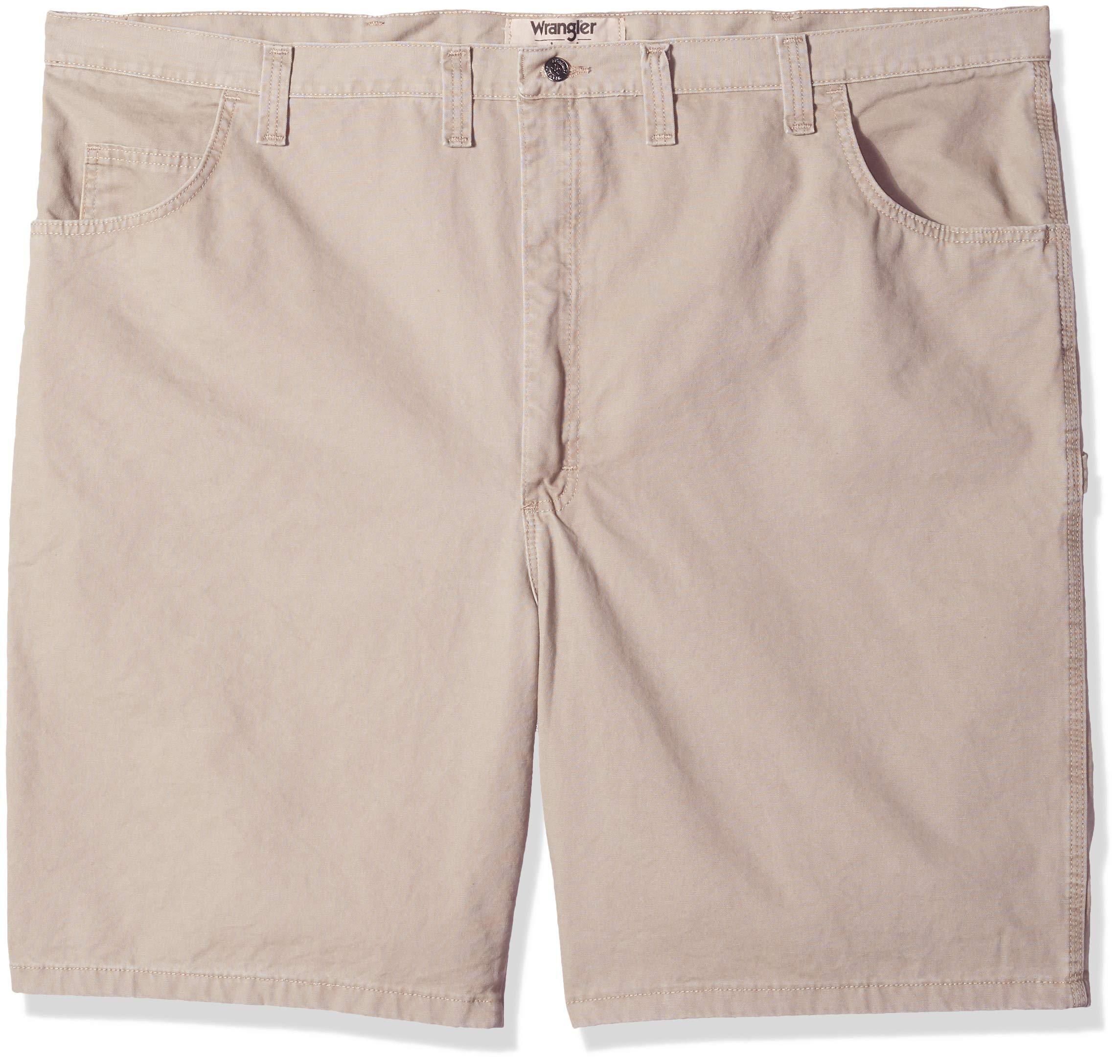 Wrangler Authentics Men's Big and Tall Loose Fit Carpenter Short, Military Khaki, 54