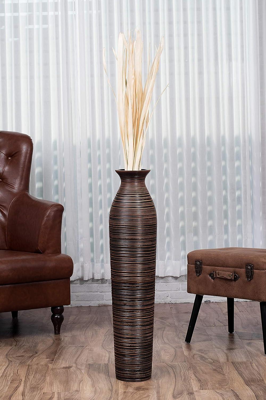 Jarr/ón de Suelo 75 cm Madera de Mango Marrn