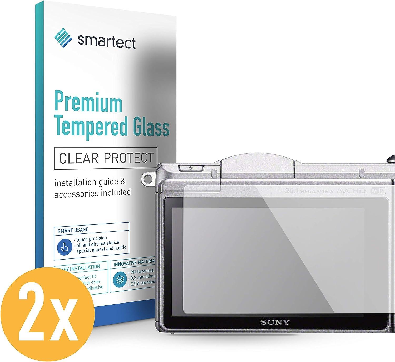 smartect Cristal Templado para Móvil Sony Alpha 5000 [2 Unidades] - Protector de pantalla 9H - Diseño ultrafino - Instalación sin burbujas - Anti-huella: Amazon.es: Electrónica