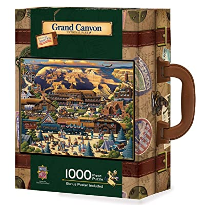 MasterPieces Collector Suitcase Jigsaw Puzzle, Grand Canyon National Park, Features Historical Landmarks, 1000 Pieces: Toys & Games [5Bkhe0704758]