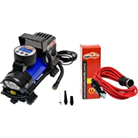 $34 » EPAUTO 12V DC Portable Air Compressor Pump, Digital Tire Inflator + 12' Foot Heavy Duty Extension Cord with Cigarette Lighter Plug Socket
