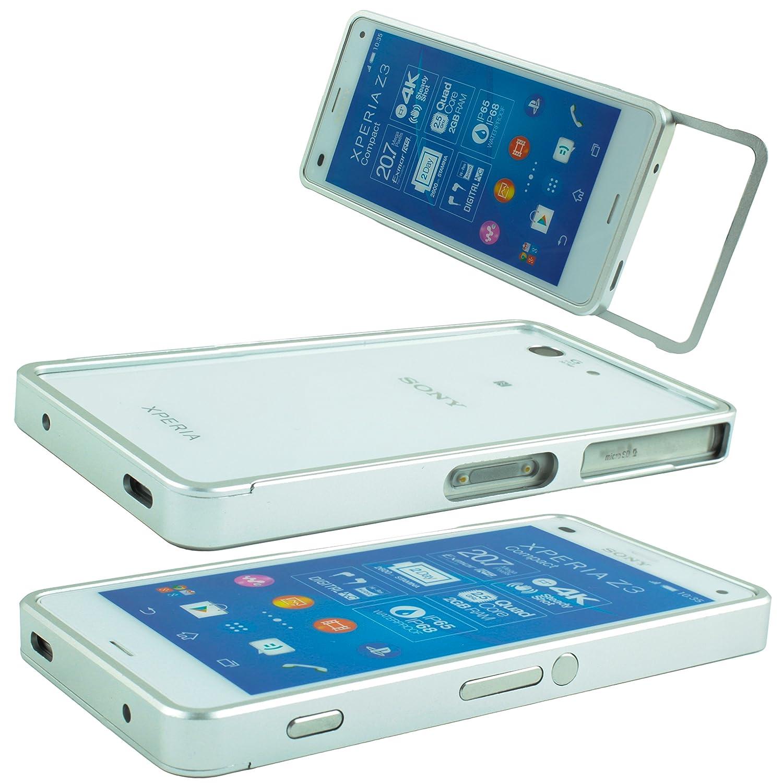 Sony Xperia Z3 Compact Alu Silber inkl. Panzerglas: Amazon.de ...