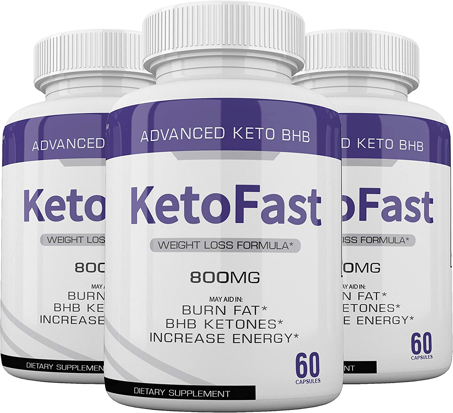 (3-Pack) Keto Fast Diet Pills BHB Advanced Ketogenic Keto Fast Burn Ultra Weight Management Capsules 700mg Pure Keto Fast Supplement for Energy, Focus Boost Exogenous Ketones for Rapid Ketosis