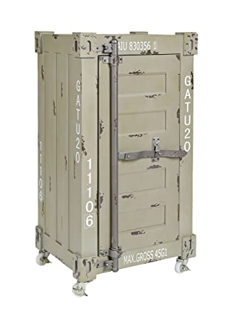 ts-ideen Design Kommode Schrank Roll Container Shabby beige grau ...