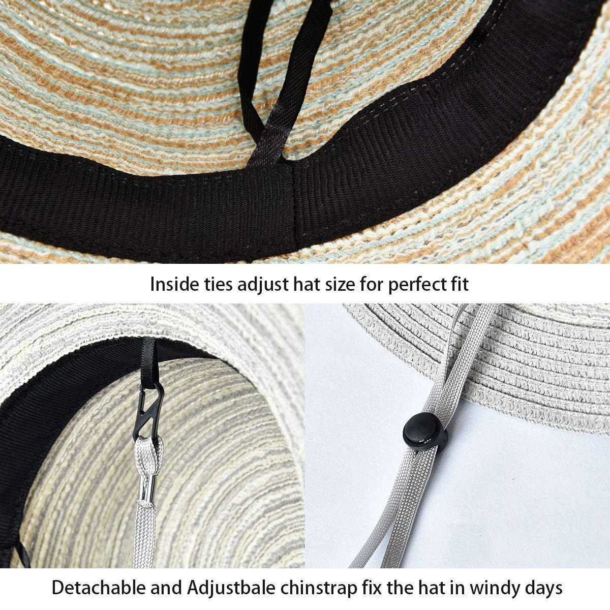 Mecca Women Floppy Hat Wide Brim Flodable Summer Straw Hat