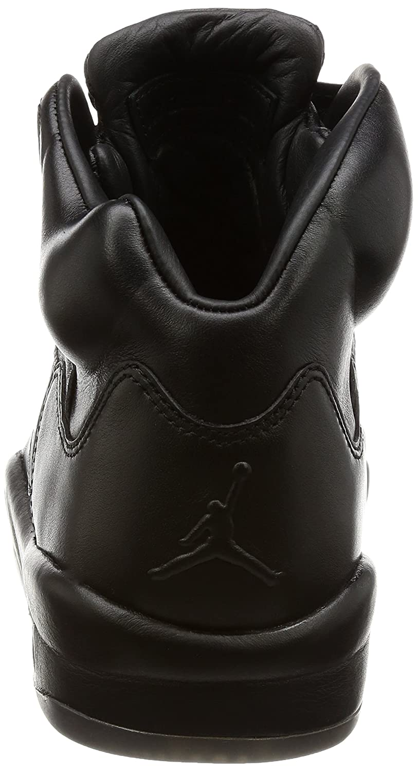 Jordan Men's Air 5 Retro PREM, BLACK, 7.5 M US: Amazon.co.uk: Shoes & Bags
