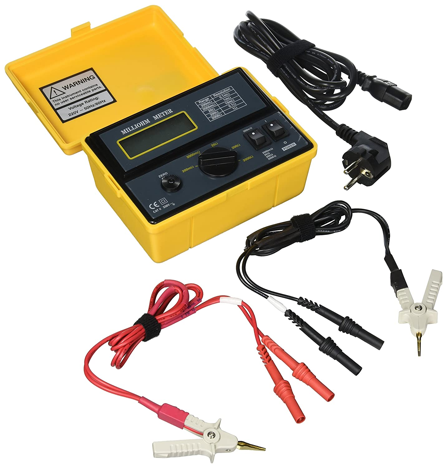 Extech 380462 Precision 220vac Milliohm Meter Voltage Testers How To Build Operated Remote Tester