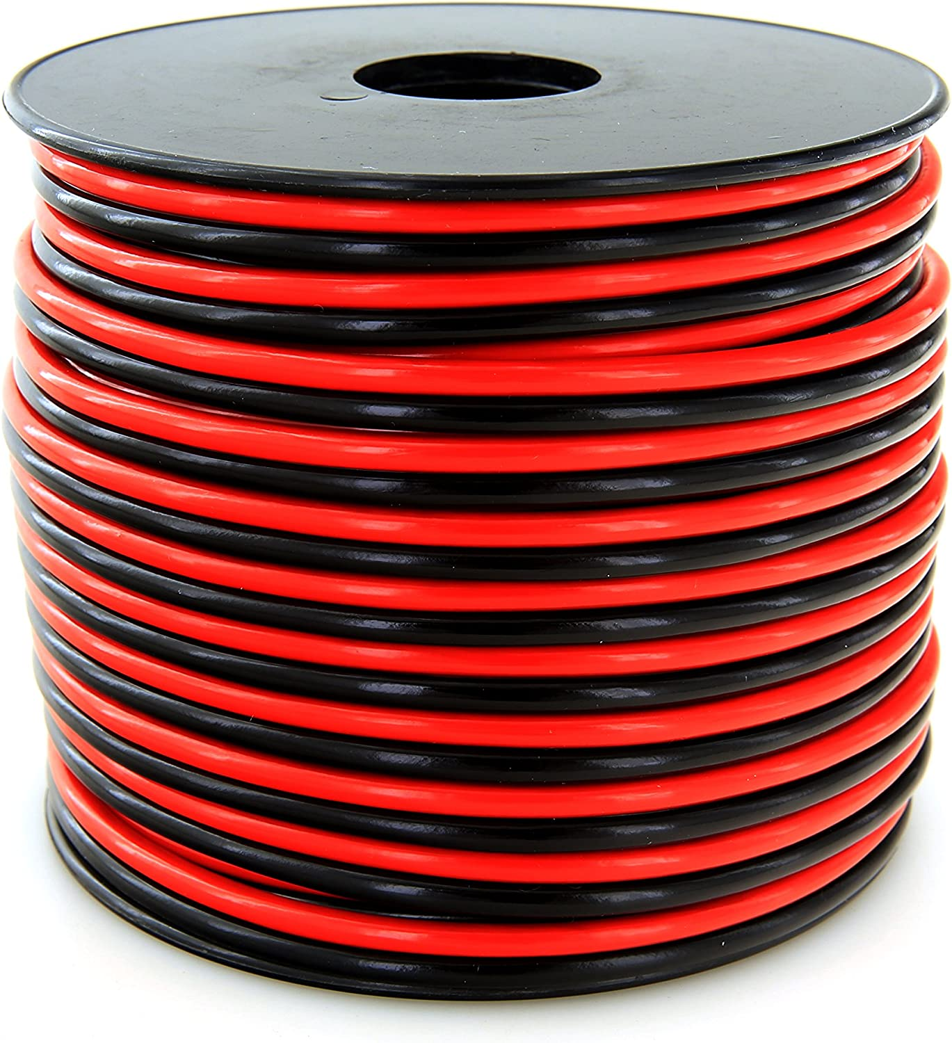 GS Power 100% Copper 12 AWG (American Wire Gauge) 100 Feet Flexible Stranded Red/Black 2 Conductor Bonded Zip Cord for Car Audio Amplifier 12V Automotive Dash Harness LED Light Wiring: Automotive