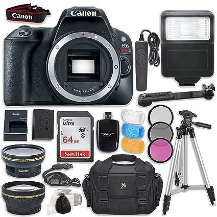 Canon EOS Rebel SL2 DSLR Camera  Body Only  + Accessory Bundle Cameras   Photography