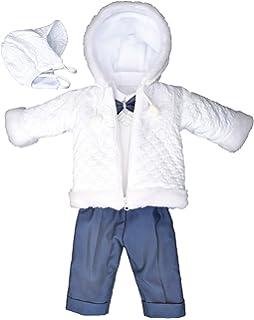 deine-Brautmode Baby Girls Christening Gown White White