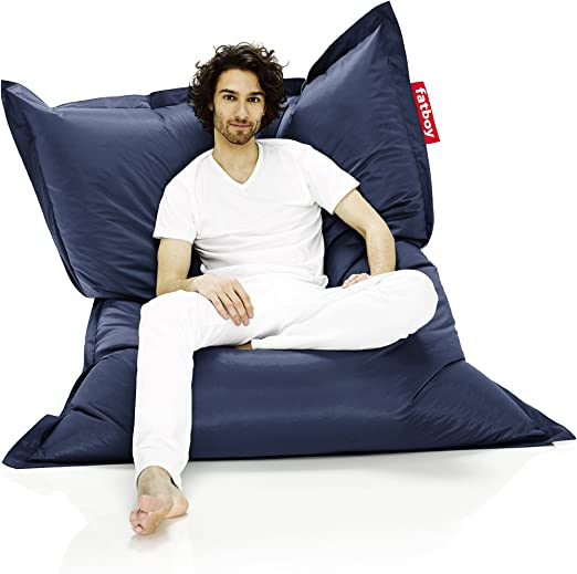 Fatboy Zitzak Xl.Amazon Com Fatboy The Original Bean Bag Chair Blue Kitchen Dining