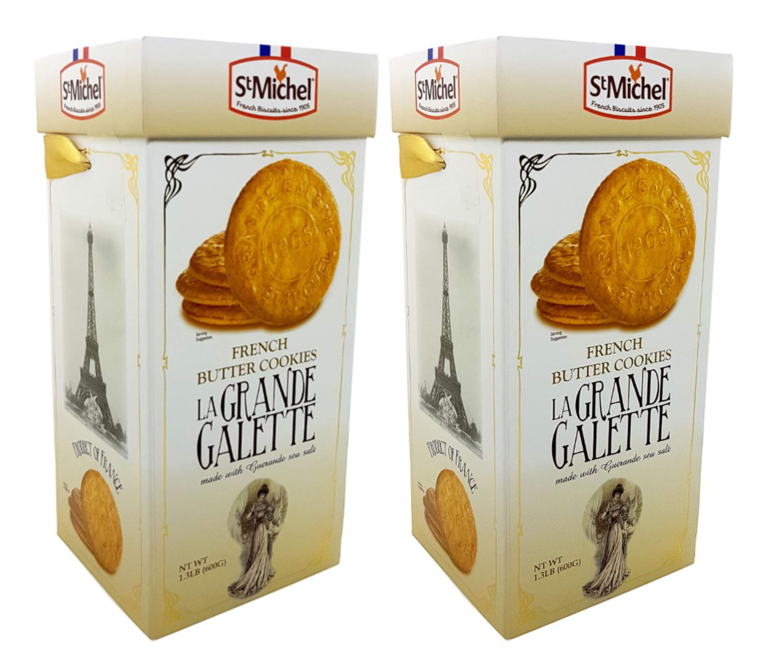 St Michel La Grande Galette French Butter Cookies Biscuits 1.3 LB (Pack of 2)