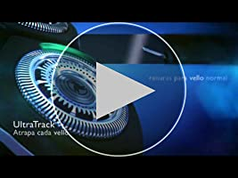 Philips RQ1275/17 - Afeitadora sin cable SensoTouch 3D serie 9000 con cabezal GyroFlex 3D, apta para uso en seco y en húmedo. Incluye accesorio perfilador de barba, base de carga y funda