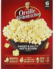 Orville Redenbacher's Sweet & Salty Kettlecorn Microwave Popcorn, 6 Count, 492g