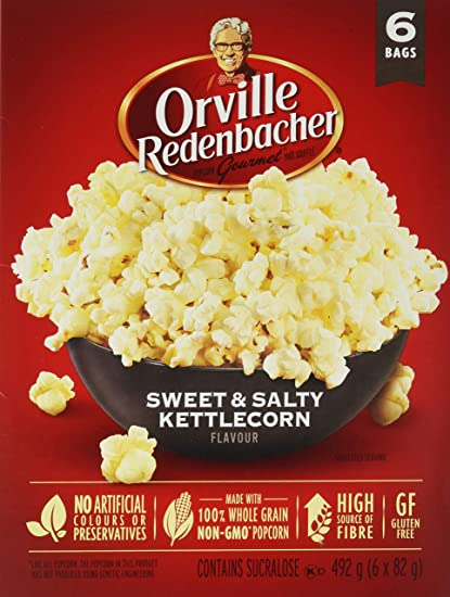 prix d'usine couleur n brillante grande remise Orville Redenbacher's Sweet & Salty Kettlecorn Microwave Popcorn, 6 Count,  492g