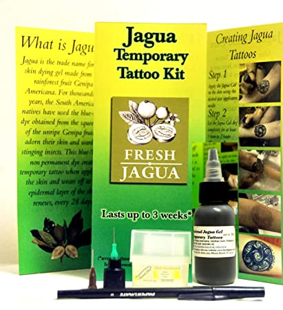 be63bf826b5ad Amazon.com: Fresh Jagua Ink Gel Temporary Tattoo Kit. 1oz (29.5ml): Beauty