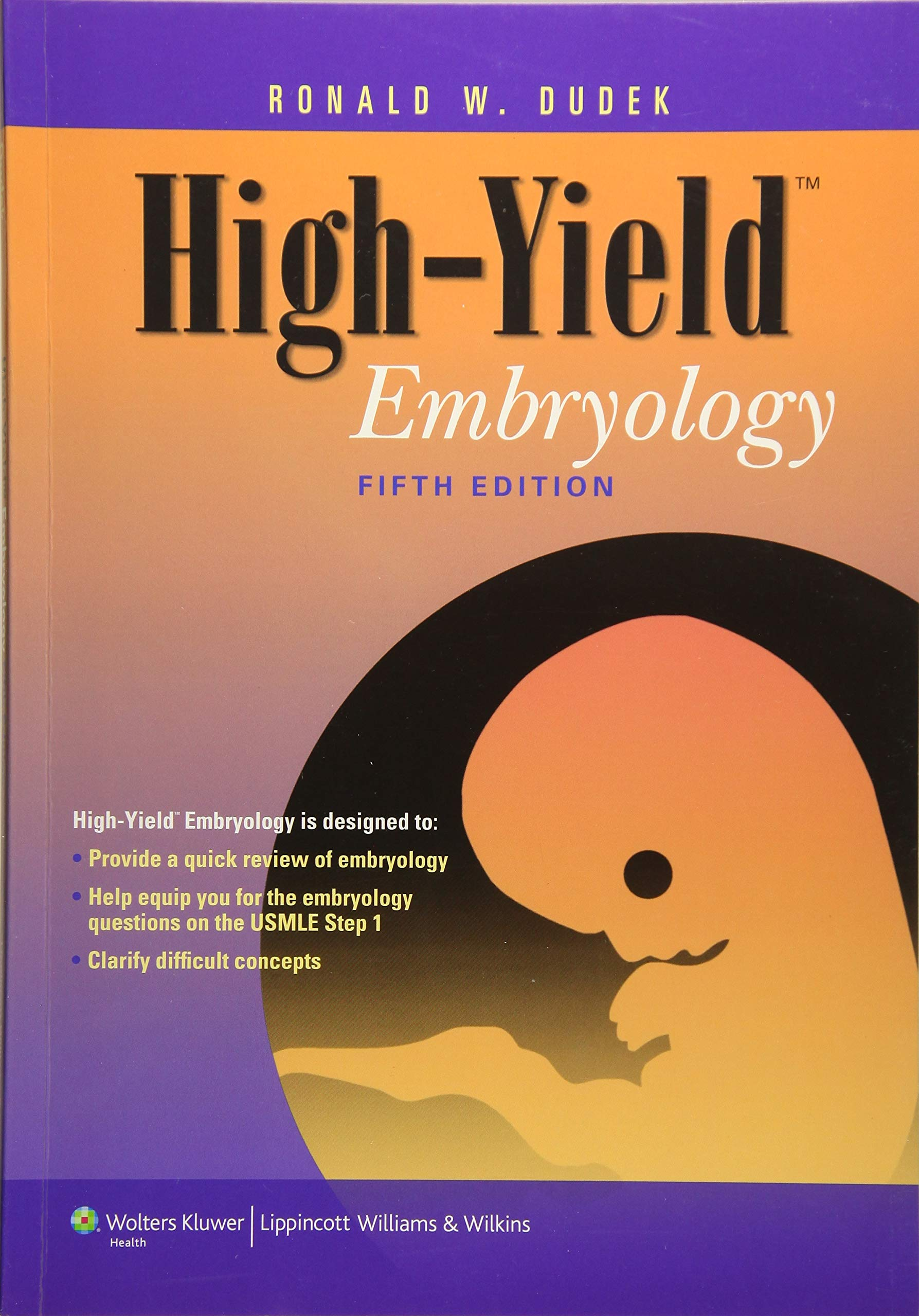 High-Yield Embryology: Dr Ronald W Dudek PhD: Amazon.com.mx: Libros