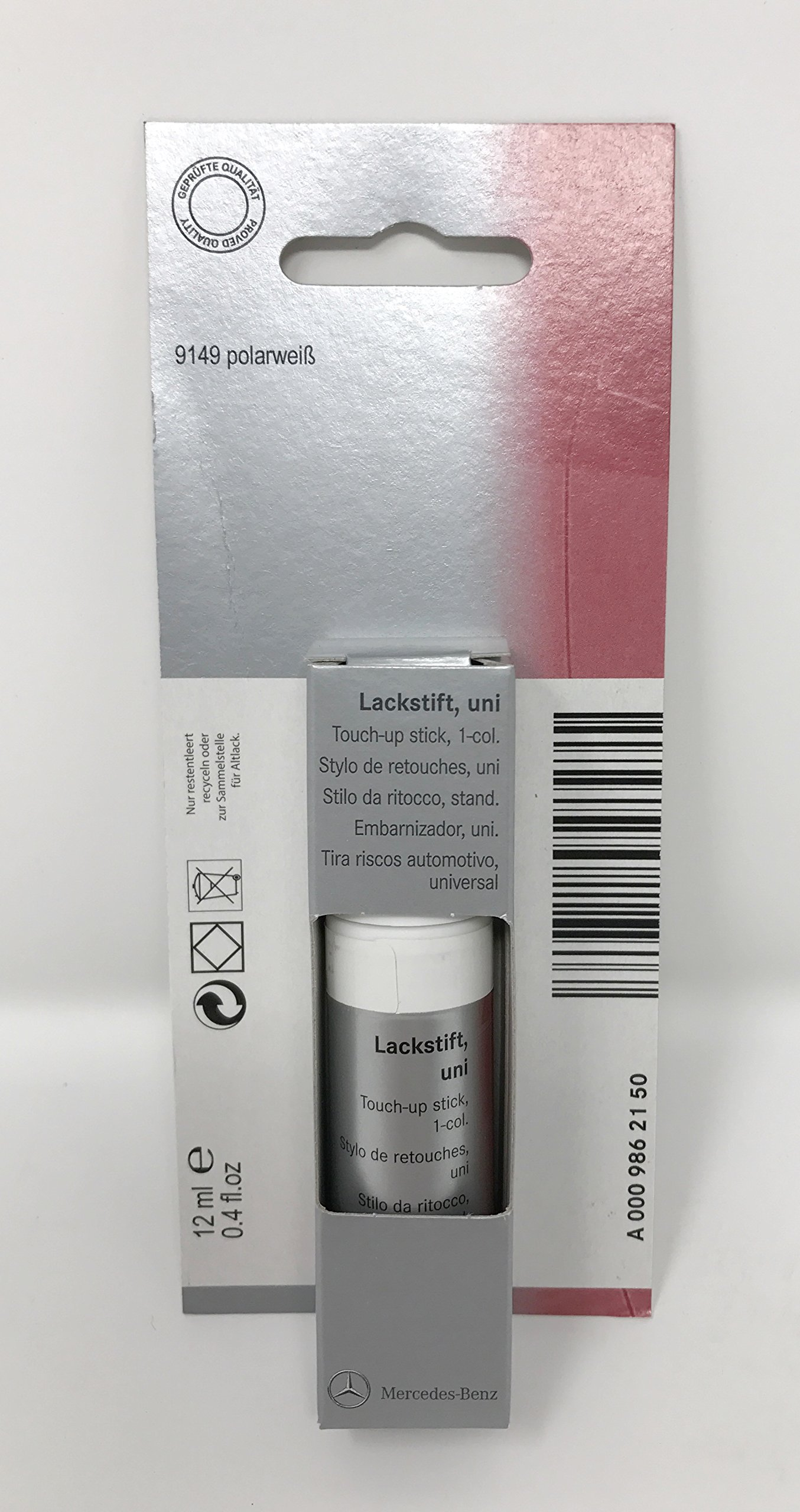 Mercedes Benz Genuine Polar White Touch Up Paint Code 149