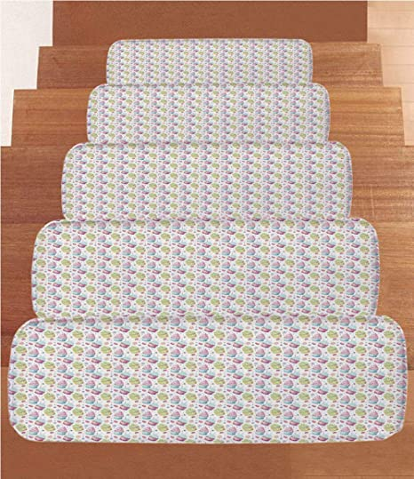 Amazon.com: Kitchen Decor Coral Fleece Stair Treads,Stair ...