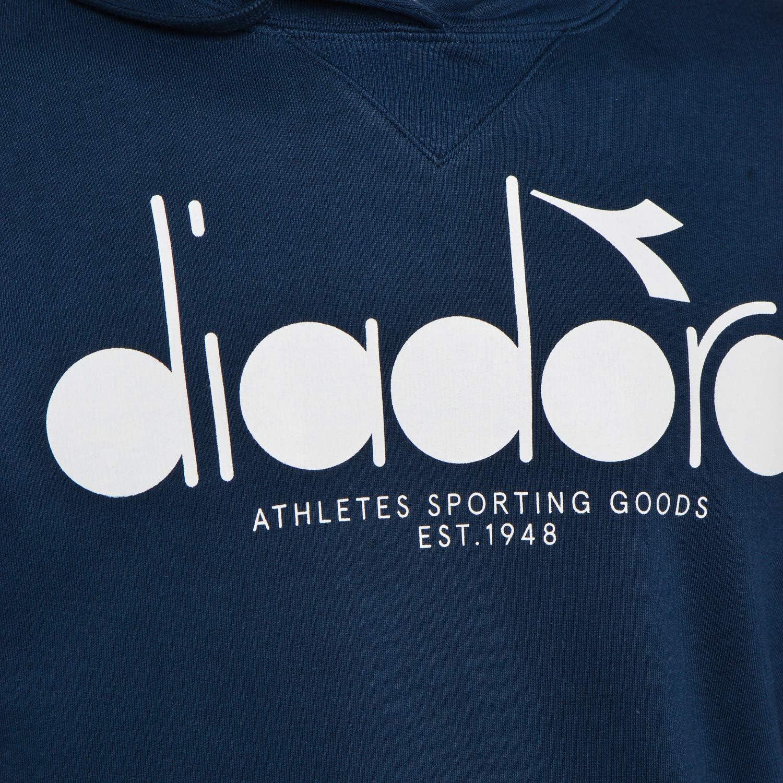 Diadora Mens Graphic Pullover Hoodie Blue