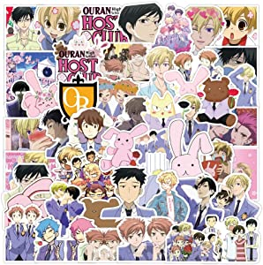 50PCS Manga Ouran High School Host Club Anime Stickers, DreamCatching Waterproof Vinyl Stickers for Laptop, Water Bottles, Computer, Phone, Car Stickers and Decals, as Gifts for Kids Girls Teens