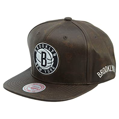 detailed look 1e3dc 39834 Mitchell ness Nba Oil Slick Brooklyn Nets Adjustable Hat Unisex Style    BH78FF-BROWN Size
