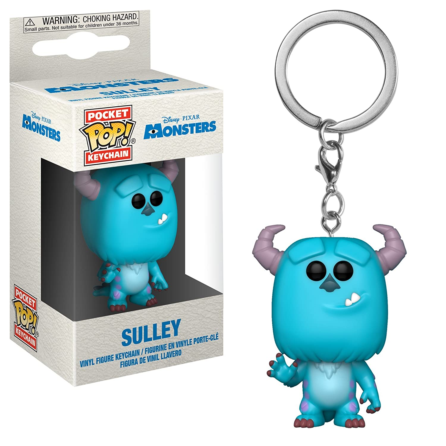Funko Pop! Keychain: Monsters Inc. - Sulley Collectible Figure, Multicolor