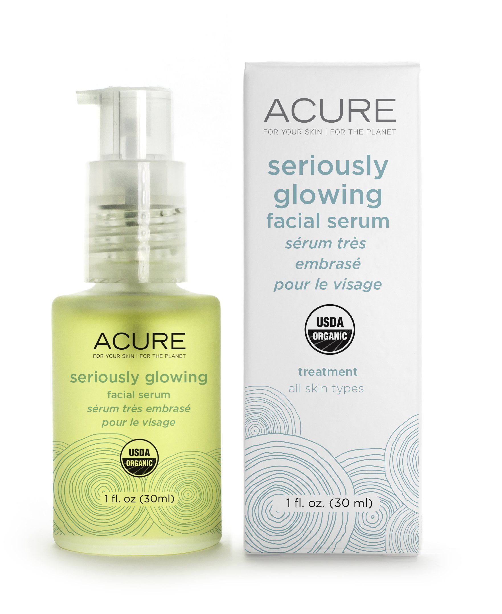 ACURE Seriously Glowing Facial Serum, 1 Ounce
