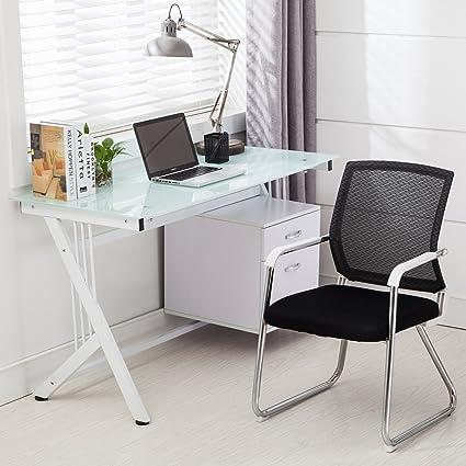 uenjoy para ordenador PC de mesa de cristal superior y lateral ...
