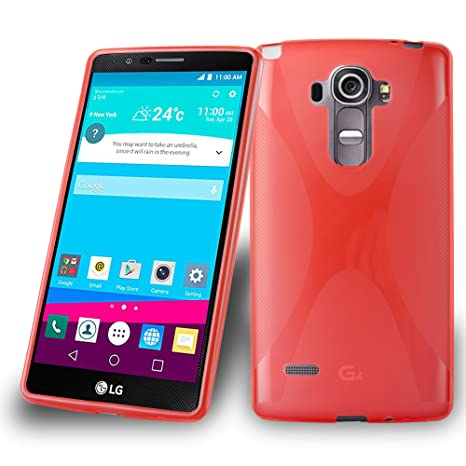 Cadorabo Carcasa para LG G4 Stylus móvil en Inferno Rojo ...