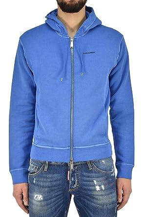 Dsquared2 Sweatshirt Navy Zipper Hombre - Talla: XS - Color: Azul - New: Amazon.es: Ropa y accesorios