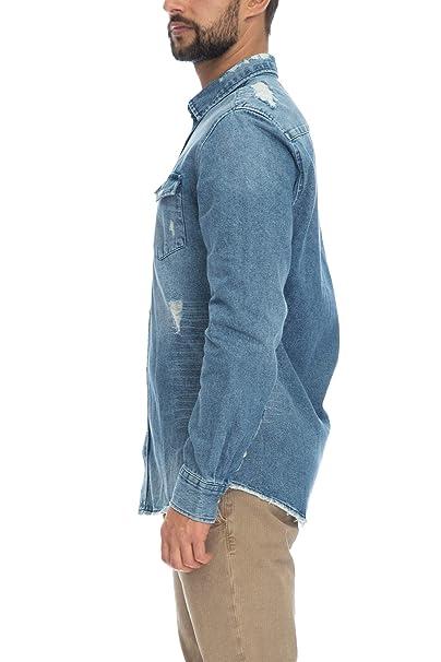 new products 7c8c4 e23c3 Camicia Jeans Uomo Only & Sons Denim Blu Medio: Amazon.it ...