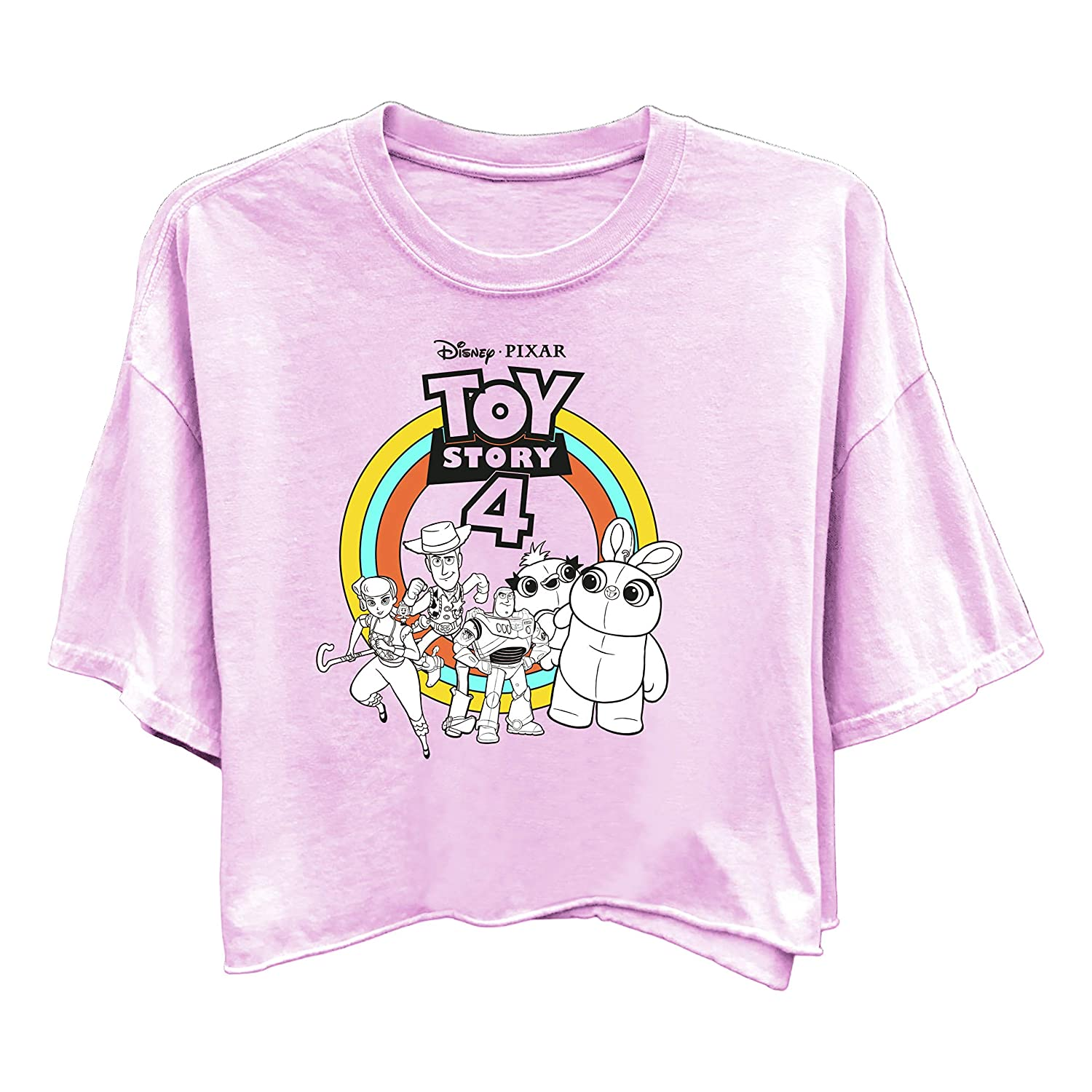 Ladies Classic Toy Story Tee Buzz Lightyear and Woody Washed Short Sleeve Tee Ladies Toy Story Fashion Shirt