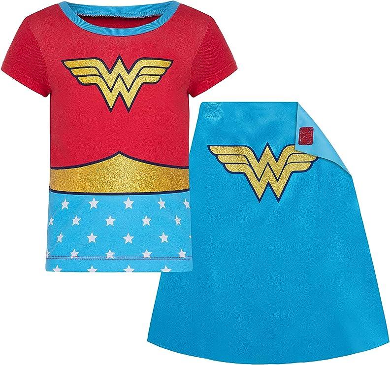 DC Comics Camiseta de Wonder Woman con Capa para Niña: Amazon.es ...