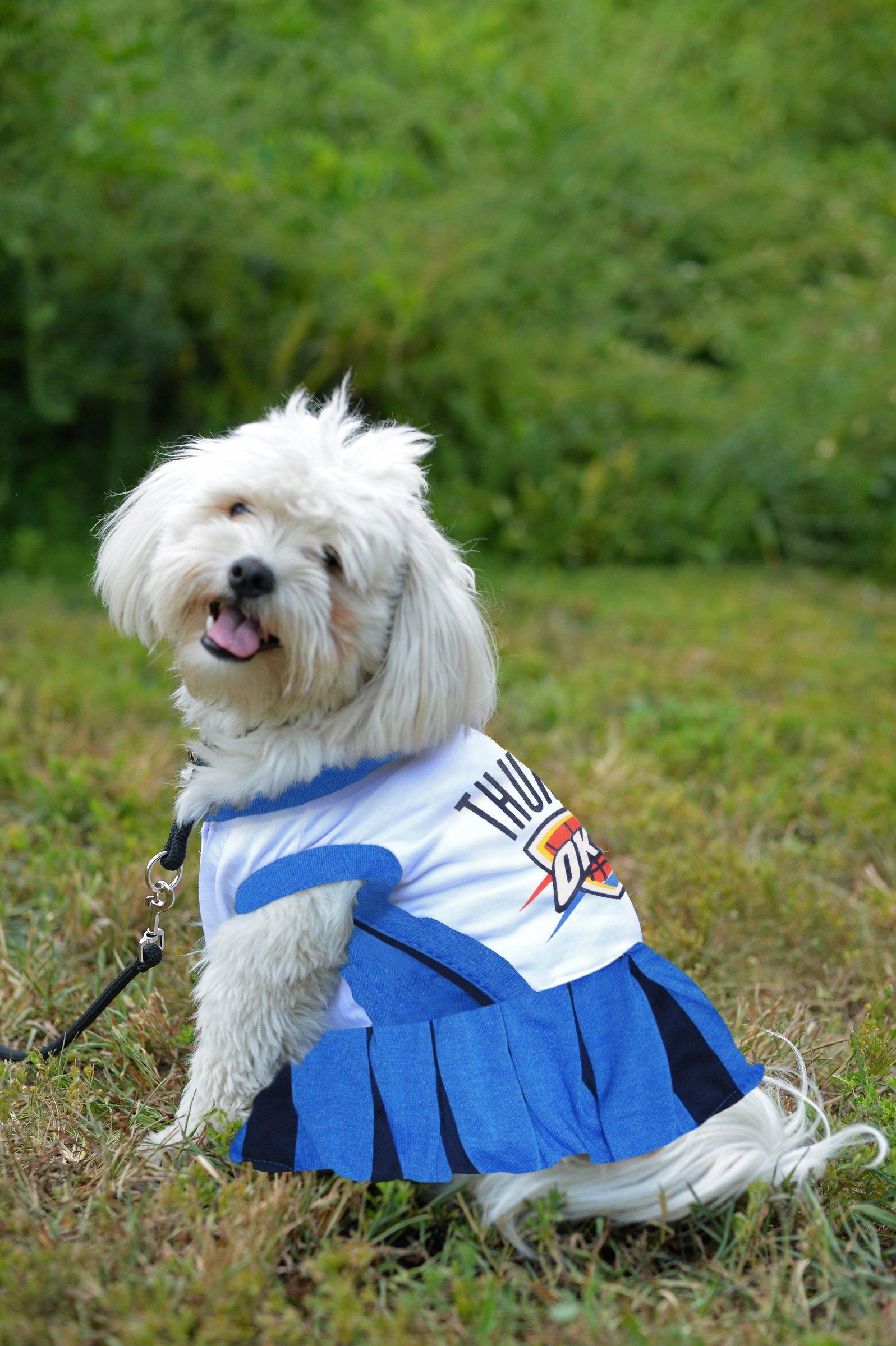 Pets First NBA Oklahoma City Thunder Dog Cheerleader Dress, Medium by Pets First (Image #2)