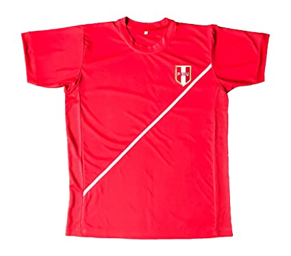 Peru Men Soccer Jersey Color Red Good Quality (Small)