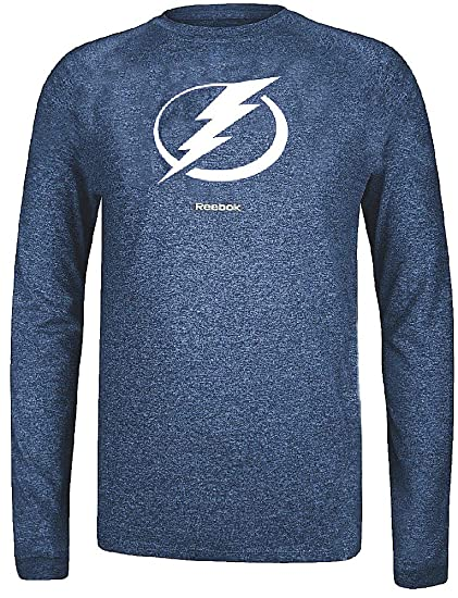 Tampa Bay Lightning Reebok Heather Blue Ultimate Jersey Crest Long Sleeve  Synthetic T Shirt (Small 15a487d28
