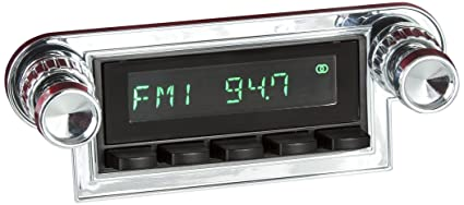 RetroSound HB-116-37-73 Hermosa Direct-fit Radio for Classic Vehicles Black Face /& Buttons and Chrome Bezel