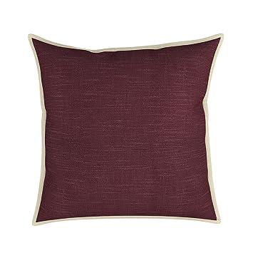 Amazon Eggplant 40 X 40 Cotton Decorative Flange Throw Pillow Impressive Eggplant Decorative Pillows