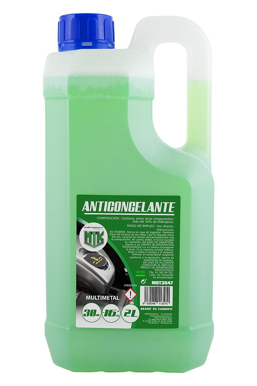 Motorkit MOT3547 Anticongelante 30% -16º, Verde, 2 litros: Amazon.es: Coche y moto