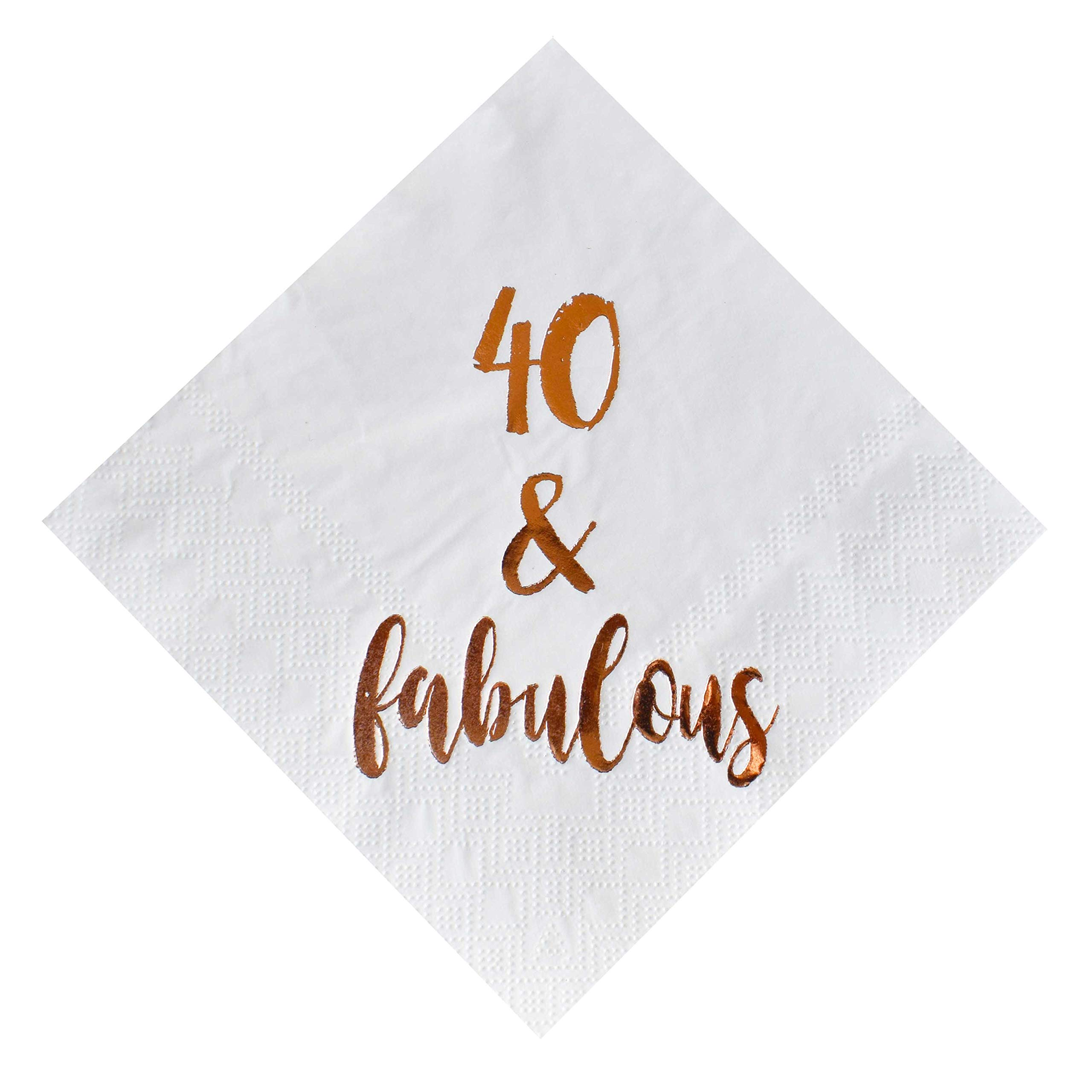 Amazon com: 40 and Fabulous Cocktail Napkins, 50-Pack 3ply