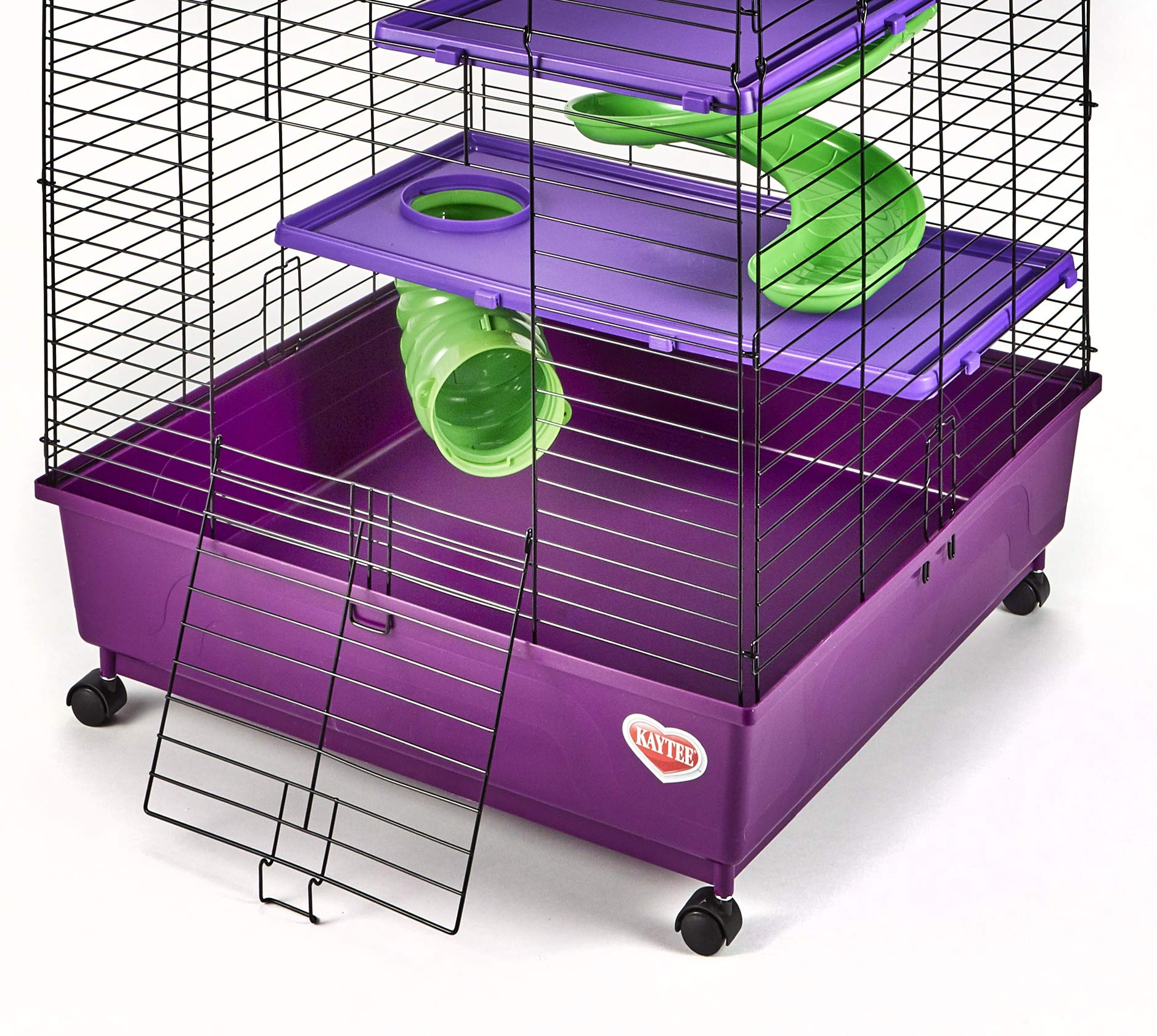 Kaytee My First Home Deluxe 2X2 Multi-Level with Casters 6