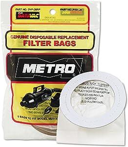 DataVac DVP26RP Replacement Bags for Handheld Steel Vacuum/Blower, 5/Pack
